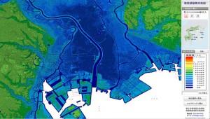 荒川水系ハザードマップ